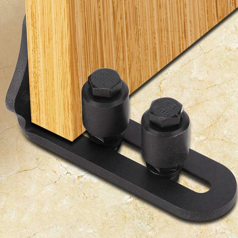 New Carbon Steel Adjustable Wall Mount Stay Roller Barn Door Floor Guide For Barn Door Hardware