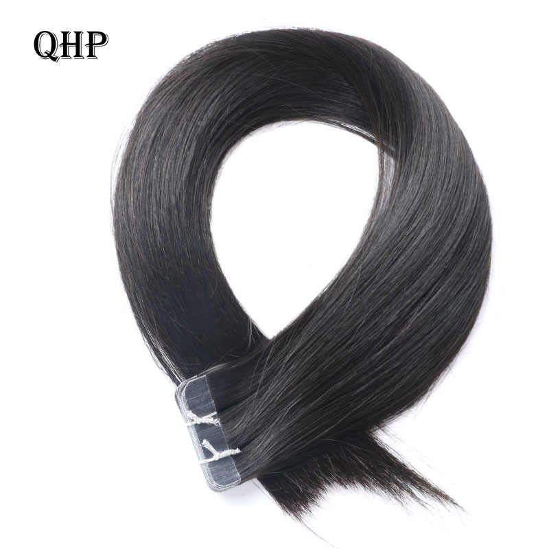 Qhp Haar Remy Human Hair Extensions 2.5G/Stand 20 Stks/pak Tape In Haar Huid Inslag 50G