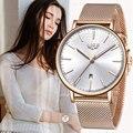 LIGE, женские часы, Топ бренд, роскошные женские часы, дамские, все стали, ультра-тонкие, простые, водонепроницаемые, кварцевые часы, Relogio Feminino + ...
