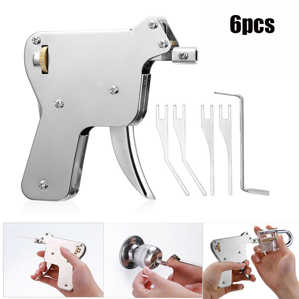 6 PCS Key Repair Tool Strong And Adjustable Brand New Stainless Steel White 30JP17