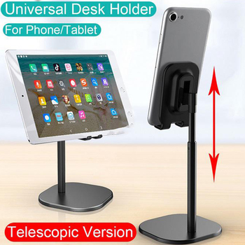 Flexible Alumium Desktop Car Phone Holder Stand Live Desk Tablet Adjustable Mount for iphone 7 8 XS Gift for holiday Universal image