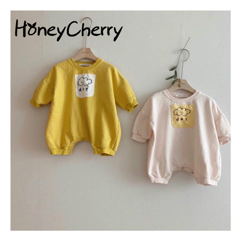Baby Bodysuit 2020 Spring New Baby Cute Solid Color Fart Coat Baby Girl Clothes Baby Creeper