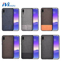На Алиэкспресс купить чехол для смартфона ivilongtail cloth texture splice pattern case for meizu 16s note9 16th 16x 16xs 16spro business full phone protective case coque