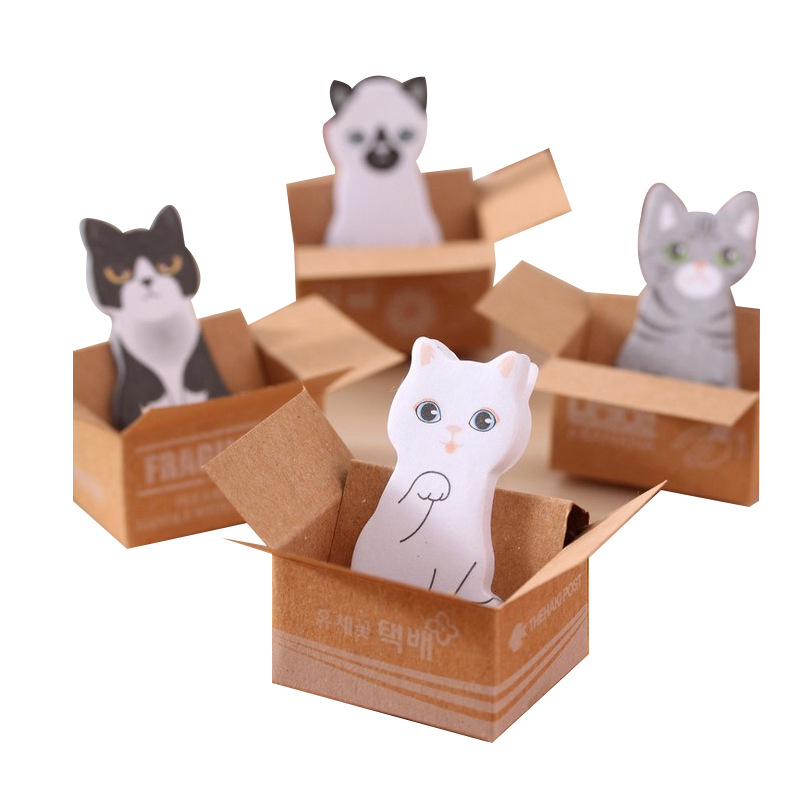 Funny Cat House Sticker Post It Bookmark Mark Tab Memo Sticky Notes (Size: 4cm by 2.5cm)