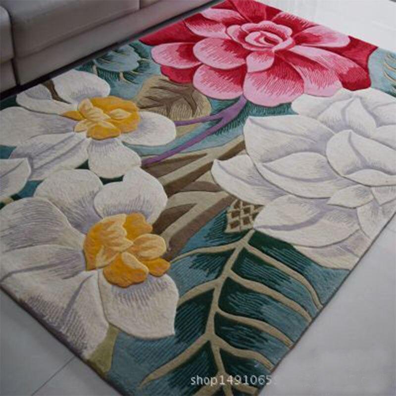 Grands tapis de laine tissés à la main de haute qualité pour salon tapis de laine chinoise chambre enfants tapis épais tapis de sol doux en peluche