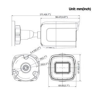 Image 5 - قبل البيع هيكفيجن داركفايتر الأصلي DS 2CD2085G1 I 8MP 20fps رصاصة شبكة CCTV IP كاميرا H.265 + POE SD فتحة بطاقة 10 قطعة/الوحدة