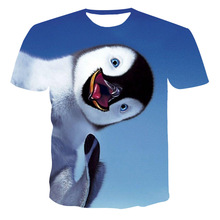 2021Children'S Clothing New Short-Sleeved Children'S 3D Penguin Print High-Quality Soft And Comfortable T-Shirt