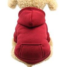 Свитер для собак Красный Модный милый свитер полиэстер кофты с капюшоном с карманом Одежда для питомцев Зима Теплый Рождество