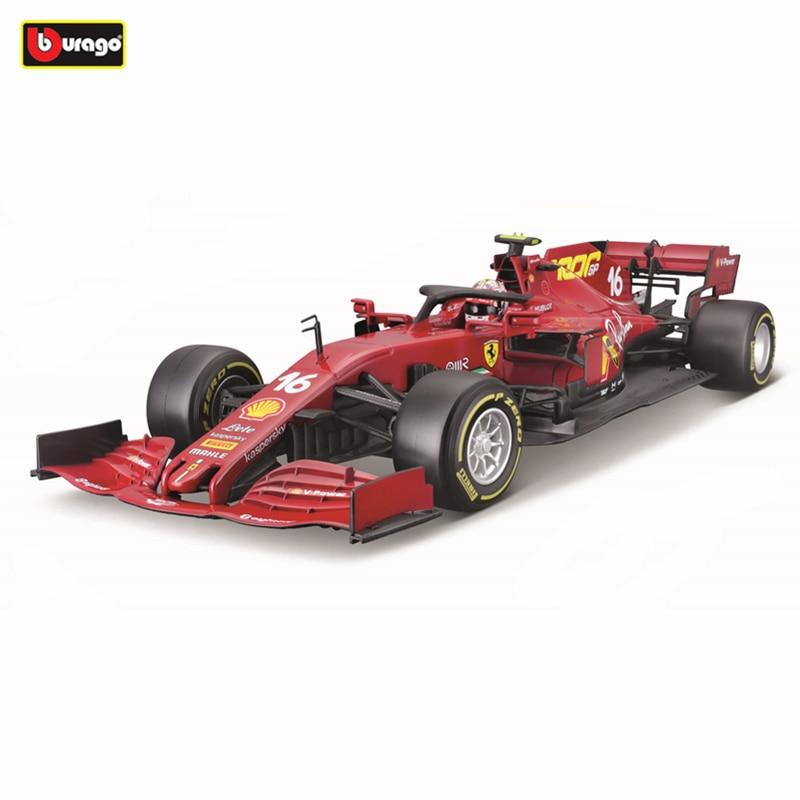 Bburago 1:18 2020 Ferrari SF1000 Anniversary Edition Formula #16 Sebastian Vettel Simulation Alloy Model Car Collection Gift Toy