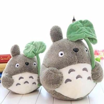 Cartoon Totoro With Lotus Leaf Plush Doll Toy Soft Stuffed Animals Lotus Leaf Totoro Pillow Toy For Kid Girl Xmas Birthday Gift