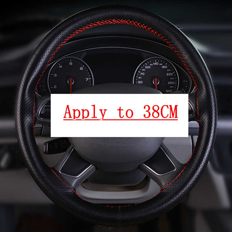 Trenza de cuero cubierta de volante para Opel Astra J Corsa D Zafira C Mokka Insignia Cascada Karl Adam Meriva