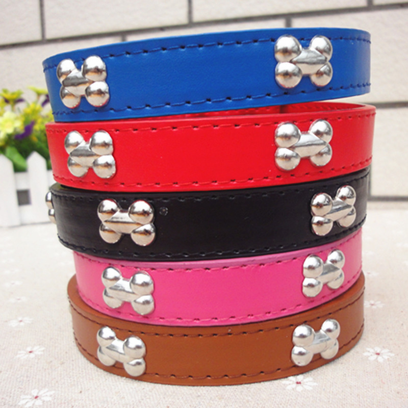 2.5 Cm Bone Neck Ring Leather Neck Ring Pet Dog Neck Ring Collar Large Dog Pet Collar