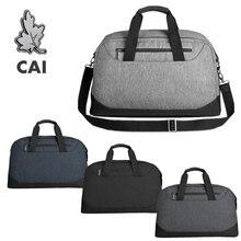 CAI 2019 Patchwork Travel Duffle Bag Men Luggage Business Trip 270c Open Shoulder Totes Bags Pocket Gym Male Handbags Waterproof