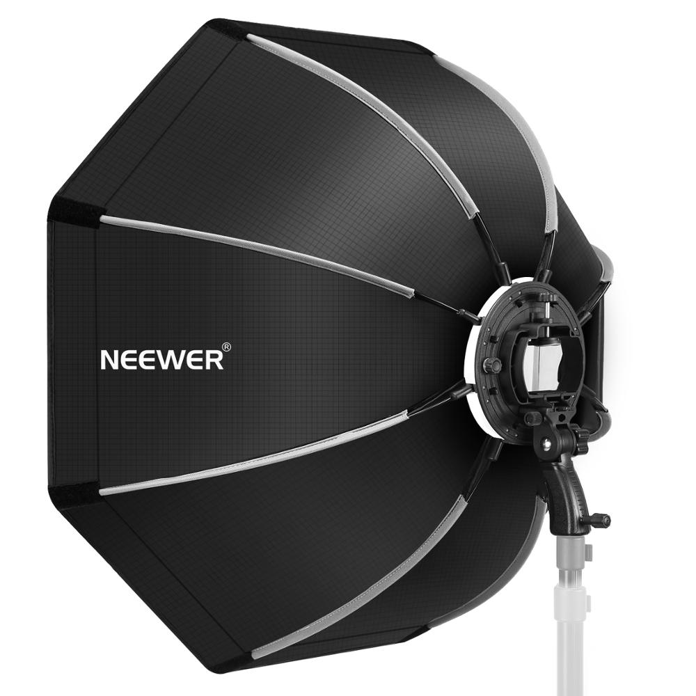 Neewer 35.4 Inches/ 90 Centimeters Octagonal Softbox With S-type Bracket Mount,Carrying Case For Canon Nikon TT560 NW561 NW562