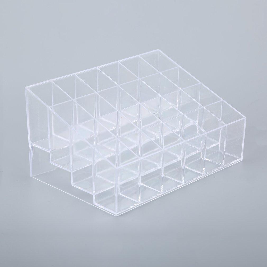 24 Grid Acrylic Makeup Organizer Storage Box Cosmetic Lipstick Jewelry Case Display Stand Make Up Tools Brush Holder