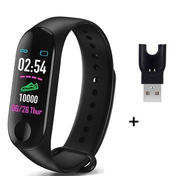 M3 Plus Smart Bracelet Heart Rate Blood Pressure Health Waterproof Smart Watch M3 Pro Bluetooth Watch Wristband Fitness Tracker 12