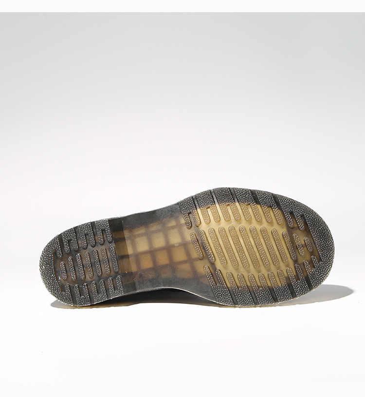 Giày Nữ Màu Da Bò Đầu Máy Xe Lửa Giày Bốt Cổ Ngắn Tăng Nam