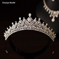 C006 Luxurious Crystal Bridal Crown Rhinestone Crown Wedding Party Dual Use Wedding Accessories For Women Coroa De Noiva