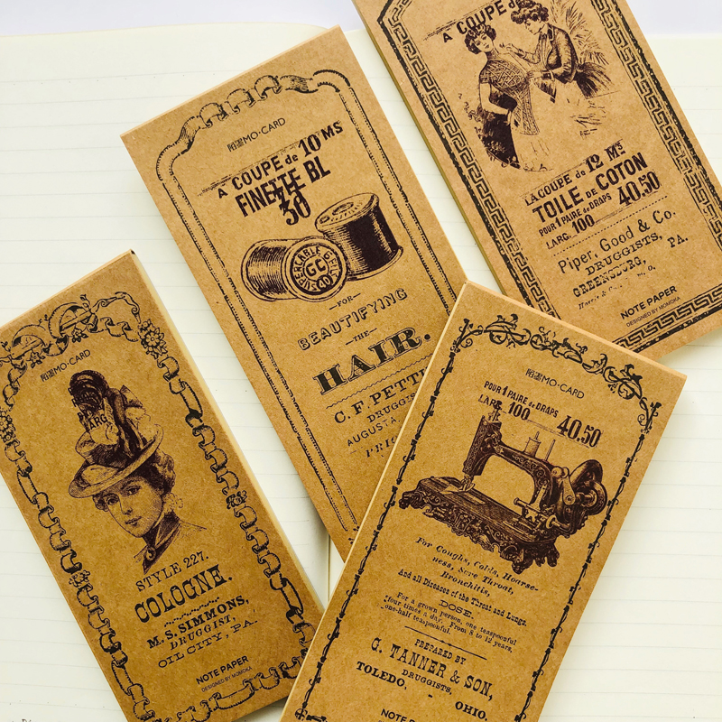 30 Sheets Retro Time Kraft Paper Memo Pad Notepad Student Stationery