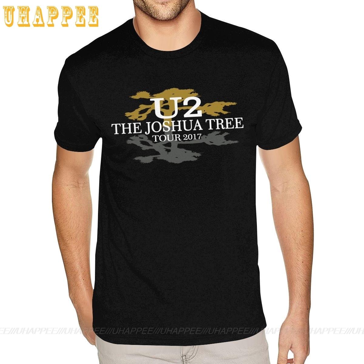Высокое качество U2 ирландская группа Джошуа дерево Рок н ролл Музыка футболки Homme гранж стиль короткий рукав круглый вырез летняя футболка