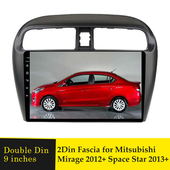 9inch Car Radio Fascia Stereo DVD Multimedia Player Frame For Mitsubishi Mirage 2012+ Space Star 2013+ GPS Navi Navigation Bezel image