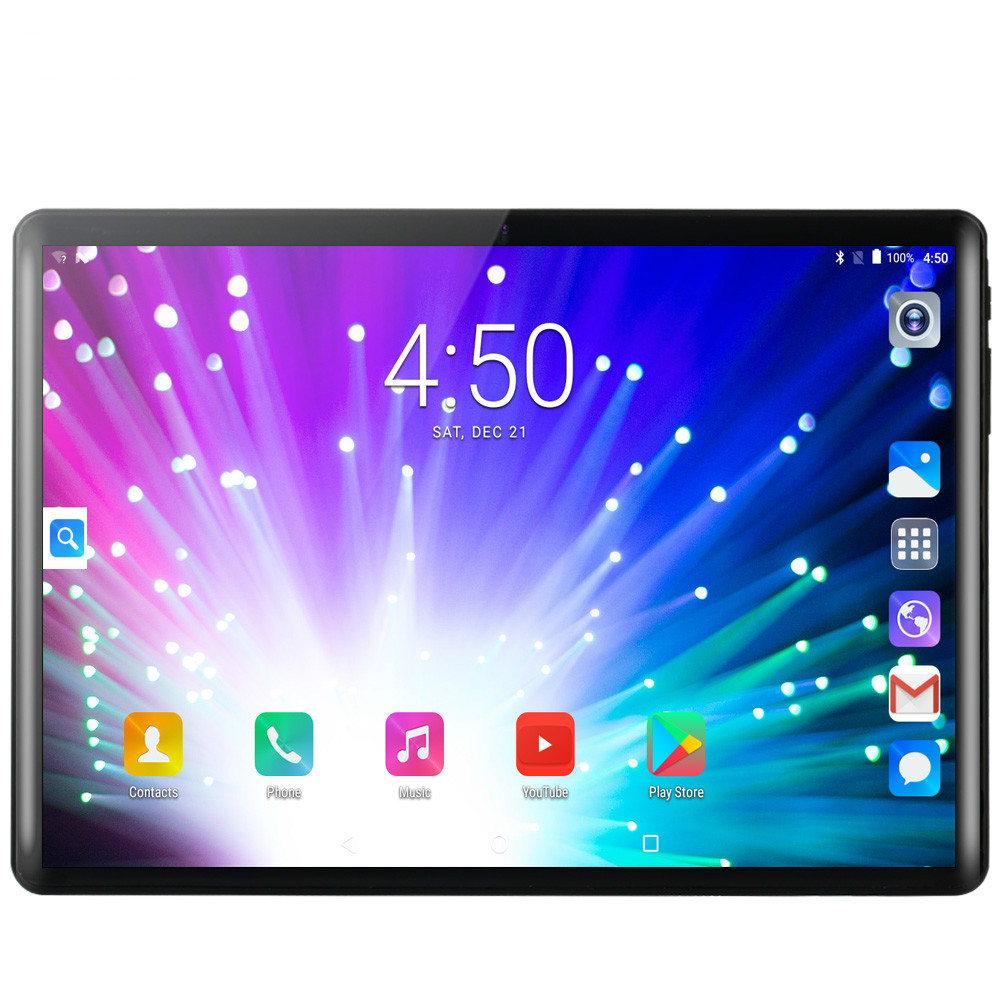 New 10 Inch 4G Phone Call Tablets Android 9.0 Ten Core 8G+128G Tablet Pc 3G 4G LTE Dual SIM Card Google GPS Bluetooth WiFi Tab