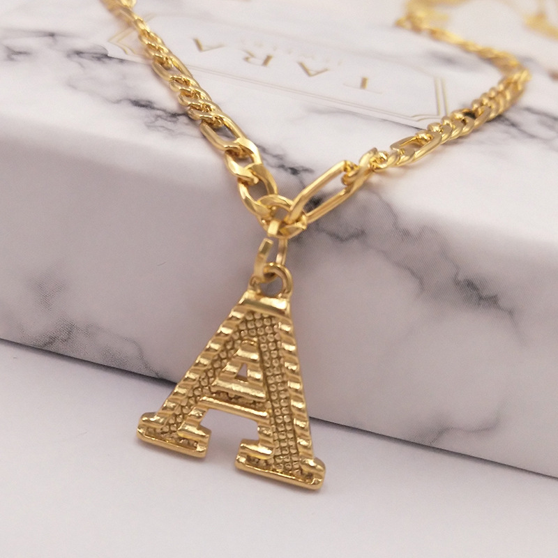 26 English Capital Letters Anklet Gold-plated 18k Environmentally Friendly Electroplating Alloy Beach Foot Chain