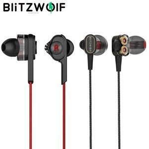 Image 1 - BlitzWolf 3.5mm 유선 이어폰 (마이크 포함) 이어폰 (마이크 포함) iPhone 6s 스마트 폰용 범용 마이크 포함)