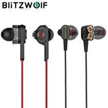 Blitzwolf fone de ouvido com fio 3.5mm, fones de ouvido intra auriculares com microfone universal para samsung iphone 6s smartphone, s