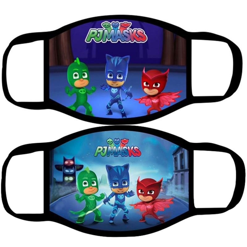 PJ MASKS Kid Face Mask Cartoon Dustproof Masks Reusable Washable Dust-proof Cosplay Kids Toys Mouth Caps Washable