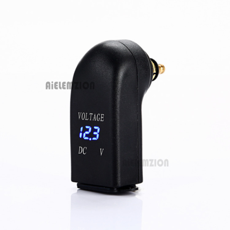 Blue Light 4.8A Dual <font><b>USB</b></font> Motorcycle Charger For Hella <font><b>DIN</b></font> Socket To <font><b>USB</b></font> Adapter for <font><b>BMW</b></font> Motorcycle Charger Voltmeter <font><b>Usb</b></font> Charger image