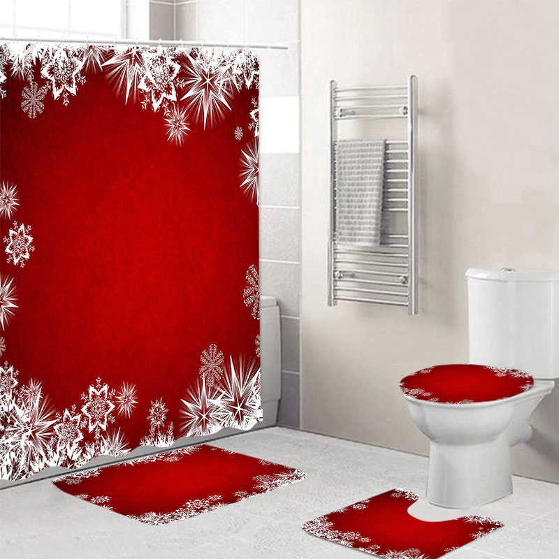 Christmas Snow Printing Made Of Polyester Fiber Material Suitable For Bathroom And Toilet 2