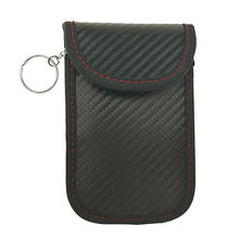 Security Bamboo Charcoal Fiber Keyless Entry Case Fob Car Lock Guard Pouch Antitheft Signal Blocker(China)