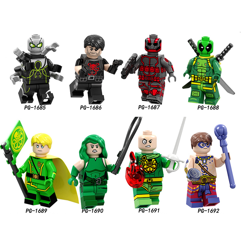 Single Super Heroes Venom Doctor Octopus Punisher Deadpool Hydra Viper Atom The Flash Arrow Building Blocks Kids Toys