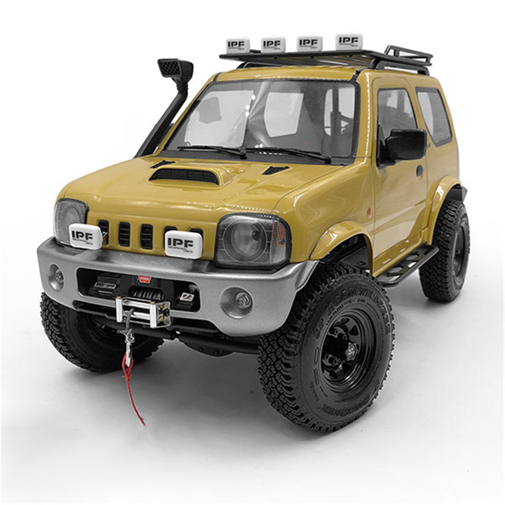 MARIO-L Metal Front Bumper With 2 Front Lamps For 1/10 MST JIMNY RC Car Parts Accessories Can Install Winch