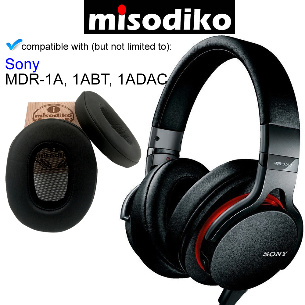 Misodiko Replacement Angled Ear Pads Cushion Kit - For Sony MDR-1A, MDR-1ABT, MDR-1ADAC, Headphones Repair Parts Earmuff Earpads