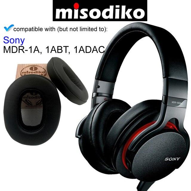 Misodiko Ear Pad Cuscino di Ricambio Angolato Kit per Sony MDR 1A, MDR 1ABT, MDR 1ADAC, cuffie Parti di Riparazione Paraorecchie Cuffie