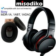 Misodiko reemplazo almohadillas de oído acodadas Kit de cojín para Sony MDR 1A, MDR 1ABT, MDR 1ADAC, piezas de reparación de auriculares orejeras