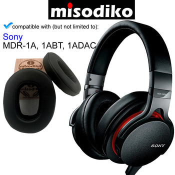 misodiko Replacement Angled Ear Pads Cushion Kit - for Sony MDR-1A, MDR-1ABT, MDR-1ADAC, Headphones Repair Parts Earmuff Earpads ear pads for sony mdr zx770bn mdr zx770ap mdr zx770bn zx770ap headphone earpads replacement headset ear pad pu leather