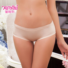 Hips, breathable, comfortable, sexy underwear, seamless womens one-piece briefs, low waist, simple, solid color,