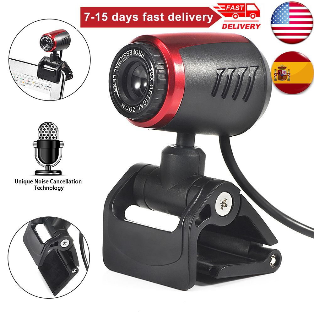 30FPS USB 2.0 HD Webcam Camera Web Cam With  For Computer PC Laptop Desktop 10000000 Pixel USA Spain Fast Shipping