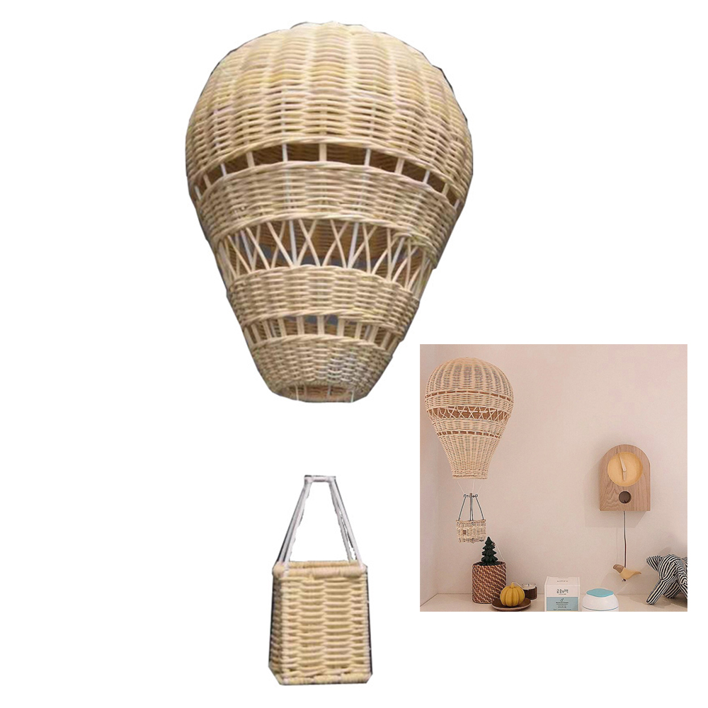 Nature Rattan Hot Air Balloon Lantern Wedding Party Decor Kid's Birthday Party Home Supplies New Year Decoration New