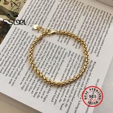 S'STEEL 925 Sterling Silver Bracelets For Women Gold