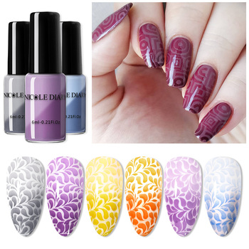 NICOLE DIARY Thermal Stamping Polish White Black Printing Nail Polish for Stamp Plate Color Changing Nail Art Varnish Lacquer https://gosaveshop.com/Demo2/product/nicole-diary-thermal-stamping-polish-white-black-printing-nail-polish-for-stamp-plate-color-changing-nail-art-varnish-lacquer/