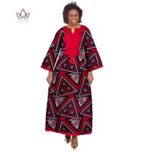 Оптовая Продажа африканские платья для женщин Дашики Ропа Африка традиционная африканская Роба длинные африканские платья с принтом WY175