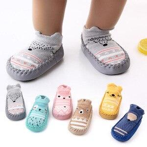 Children's new cartoon baby socks baby toddler socks fox style non-slip soft floor socks
