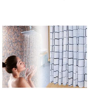Europejska i amerykańska geometryczna łazienka zasłona prysznicowa 3D wodoodporna i odporna na pleśń PEVA zasłona prysznicowa zasłona prysznicowa środowisko tanie i dobre opinie CN (pochodzenie) GEOMETRIC 66*666 Ekologiczne Na stanie
