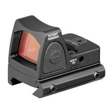 Minirmr-mira réflex para Rifle de caza Airsoft, mira de punto rojo, colimador, Base, Glock, ajuste de Weaver carril de 20mm