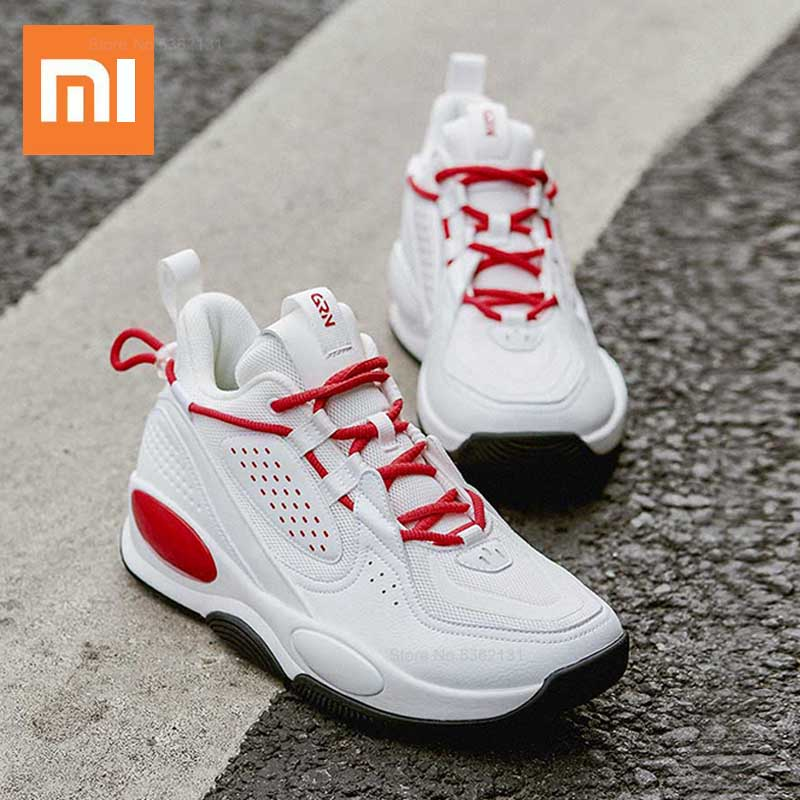 Xiaomi Men Basketball Shoes High-top Sports Shoes Comfortable Rubber Outsole Cushioning Shoes Breathable Men Outdoor Sneakers