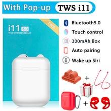 i11 TWS Earphones Wireless Bluetooth 5.0 Sport Wireless Earbuds With Earphones Accessories Leather Case For TWS i12 i9s i200 TWS цена